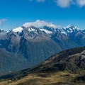More views of the Southern Alps.- New Zealand Great Walks: Routeburn Track