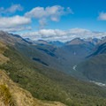 Continuing on the Routeburn Track.- New Zealand Great Walks: Routeburn Track