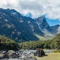 View from Lake Mackenzie Hut.- New Zealand Great Walks: Routeburn Track
