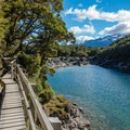 Boardwalks take you down the lake.- New Zealand Great Walks: Routeburn Track
