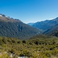 Panorama from Key Summit.- New Zealand Great Walks: Routeburn Track