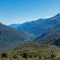 Looking back toward Harris Saddle.- New Zealand Great Walks: Routeburn Track