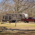 The north campground is a little more RV-friendly and easy to navigate. - Chicot State Park Campground + Cabins