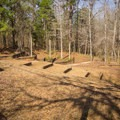 The amphitheater found near the group camping lodges. - Chicot State Park Campground + Cabins