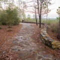 The beginning of the hiking trail that leads out from the vista viewing area. - Longleaf Scenic Byway