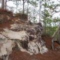 Interesting stone outcrop below the picnic area of the vista. - Longleaf Scenic Byway