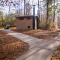 Pathway leading to the bathroom. - Kisatchie Bayou Campground