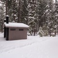 The vault toilet is available year round.- Link Creek Winter Yurt