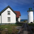 The lighthouse is a half-mile walk from the dock.- Little River Lighthouse
