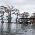There are many accommodations to help boaters get on and off the water. - Lake Bruin State Park