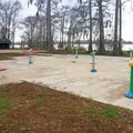 The water playground will keep the kids cool in the summer. - Lake Bruin State Park