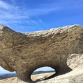 One of many interesting rock formations that you can find on Big Bald Rock. - Big Bald Rock