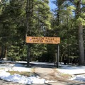 The Swallow Falls Canyon Trailhead.- Swallow Falls State Park