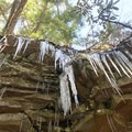 Ice formations in winter.- Swallow Falls State Park