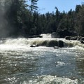A view with both lower and upper portions of Swallow Falls. - Swallow Falls State Park