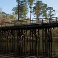 The Tammany Trace hiking and biking trail crosses Cane Bayou just downstream of the highway.- Cane Bayou