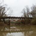 The abandoned LA-1 bridge over Bayou Jean de Jean.- Bayou Jean de Jean