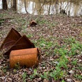 Old garbage or historic artifacts, depending on your perception.- Bayou Jean de Jean