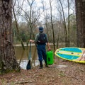 Contemplating risk vs. reward on a flooded Whiskey Chitto Creek.- Whiskey Chitto Creek
