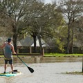 Paddling into Franklin on Bayou Teche to finish a day on the water.- Franklin + Bayou Teche Paddle Trails