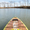Paddling on the oxbow lake.- Bayou Macon