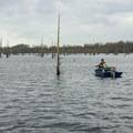 A fisherman hopeful for crappie in early spring.- Black Bayou Lake Canoe Trail