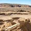Pueblo Bonita has over thirty ceremonial Kivas and 800 rooms.- Pueblo Bonito