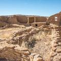 View of several interconnected rooms.- Pueblo Bonito
