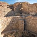 View inside one of the kivas.- Pueblo Bonito