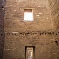 The trail leads through several rooms.- Pueblo Bonito