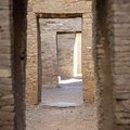 The doorways are perfectly aligned with each other.- Pueblo Bonito