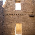 View inside one of the structures.- Pueblo Bonito
