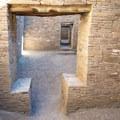 A doorway with an interesting design.- Pueblo Bonito