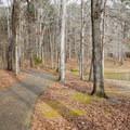Paved path along the lake.- Lincoln Parish Park