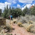 Heading out on Brins Mesa Trail.- Brins Mesa via Jordan Road