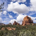 The Mitten rock formation.- Brins Mesa via Jordan Road