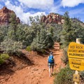 Much of the trial in the Red Rock Secret Mountain Wilderness.- Brins Mesa via Jordan Road