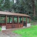 Outdoor kitchen.- Fern River Resort