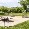 The day use area offers several picnic sites.- Utah Lake State Park