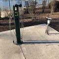 Bike repair station.- Salem Riverfront City Park
