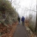 Hikers enjoying the stroll to Laurel Falls.- Laurel Falls