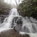 Upper Laurel Falls gushes after it rains.- Laurel Falls