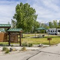 Campground entrance.- Utah Lake State Park Campground