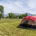 All sites have great views.- Utah Lake State Park Campground