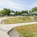 Campground roads are paved and in good condition.- Utah Lake State Park Campground