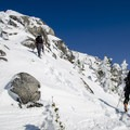 The first bump before the ridge is the crux of the climb and is harder in winter.- Needle Peak