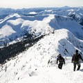 Descending from the summit.- Needle Peak