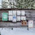 Information at the trailhead for Little Nash Sno-Park. - Little Nash Snow Trail