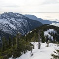 View of Unnecessary Mountain and Cypress Provincial Park.- Mount Harvey