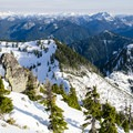 Looking east deep into the beautiful North Shore mountains.- Mount Harvey